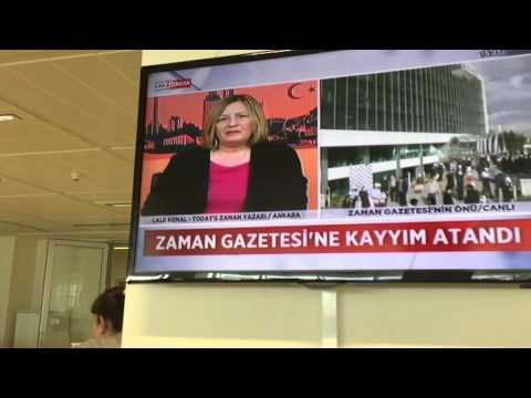 Final FREE moments in the Today's Zaman newsroom