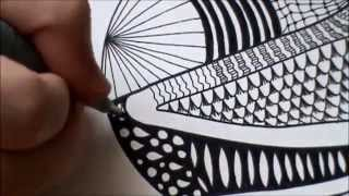 zentangle: how to draw patterns