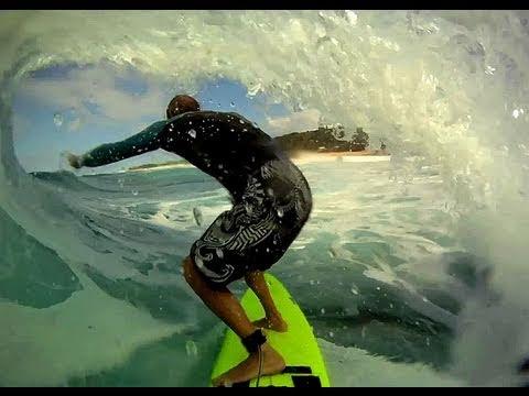GoPro HD surfer inside the tube