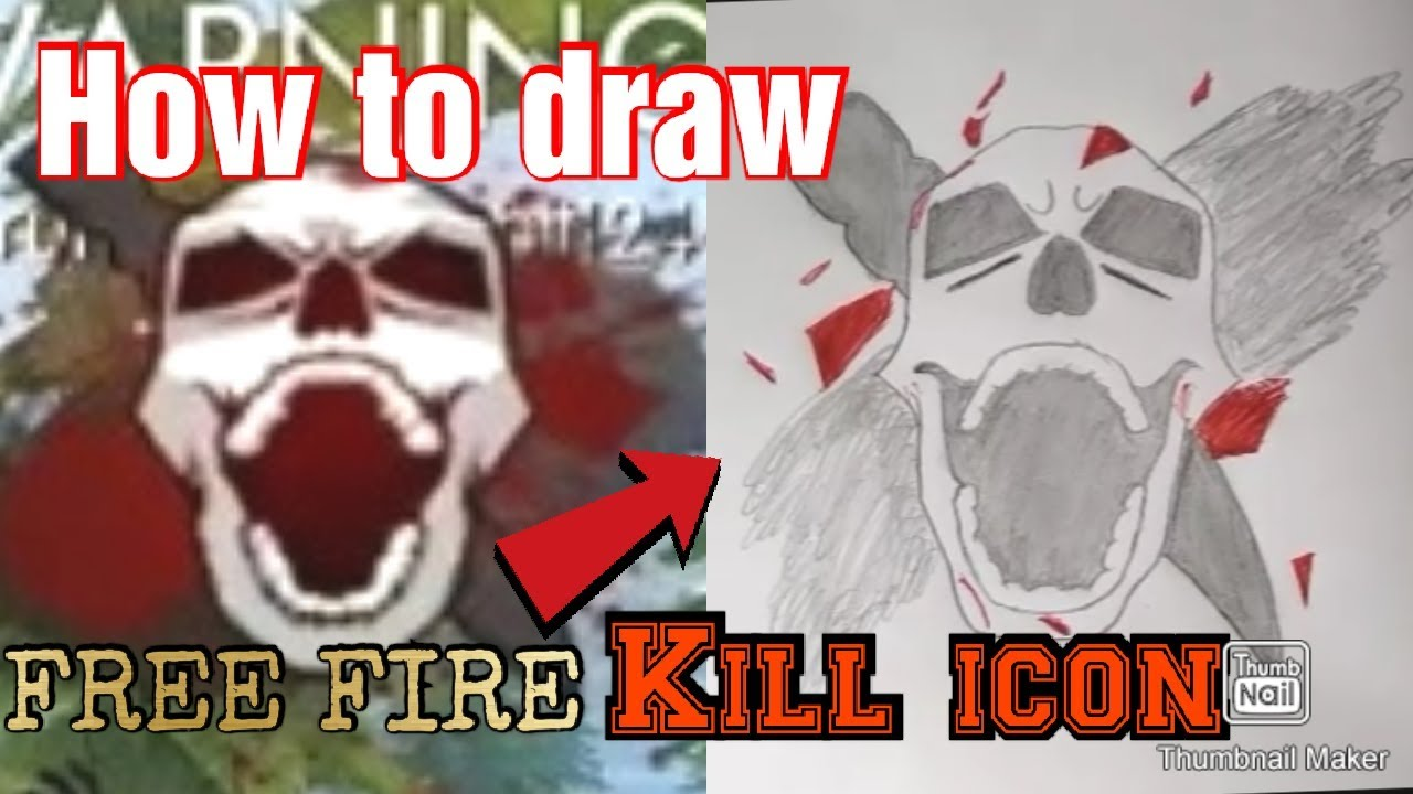 How To Draw Freefire Kill Icon Free Fire Pencil Sketch Only Pencil Shading