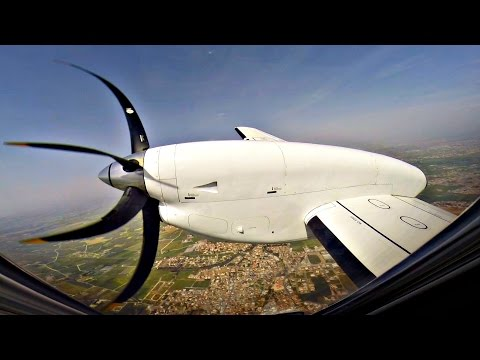 TUS Airways | First Official Flight | Saab 340 Full Flight LCA-TLV | GoPro Wing View - NEW AIRLINE
