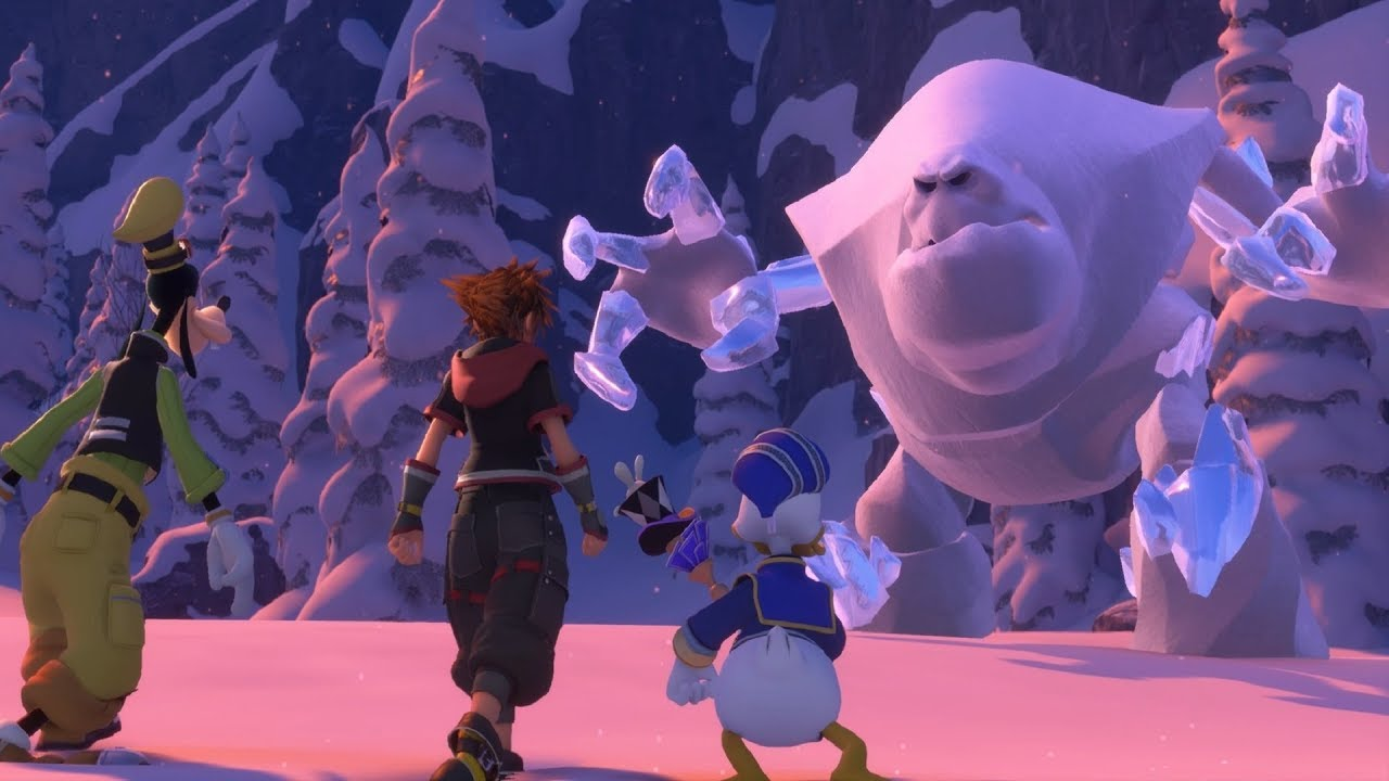 Kingdom Hearts 3: Snow Monster Boss Fight #9 (English)