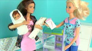 ДОЛГОЖДАННАЯ ВСТРЕЧА С ДВОЙНЯШКАМИ Мультик #Барби Беременная Кукла Игрушки Сборник 24