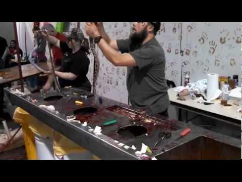 rattlesnake roundup 2015 - rattlesnake skinning - Sweetwater Texas