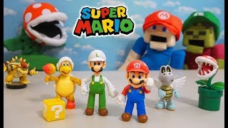 Super Mario Bros Jakks 2019 Action Figures Series 1 Set Unboxing Review