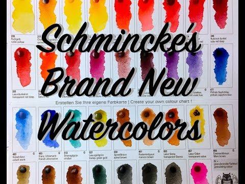 New Schmincke Watercolor Colors