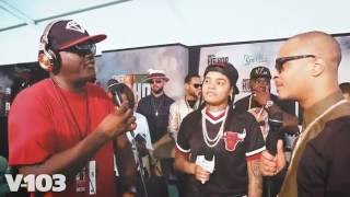 t i and young m a w greg street 2016 bet hip hop awards green carpet