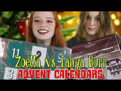 Zoella Advent Calendar vs Tanya Burr Christmas Advent Calendar 2017 | NiliPOD