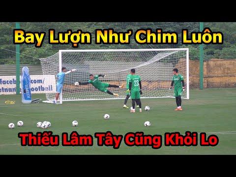 Thử Thách Bóng Đá Đỗ Kim Phúc đi xem các thủ môn ĐT Việt Nam trổ tài cùng Công Phượng , Quang Hải