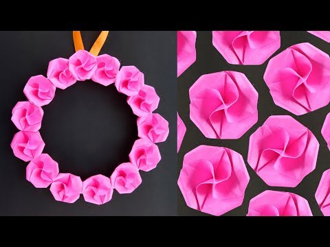 DIY Wall Hanging Paper Flowers Craft - Easy Wall Decoration Ideas - Simple Paper craft