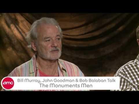 Bill Murray, John Goodman & Bob Balaban Talk THE MONUMENTS MEN with AMC