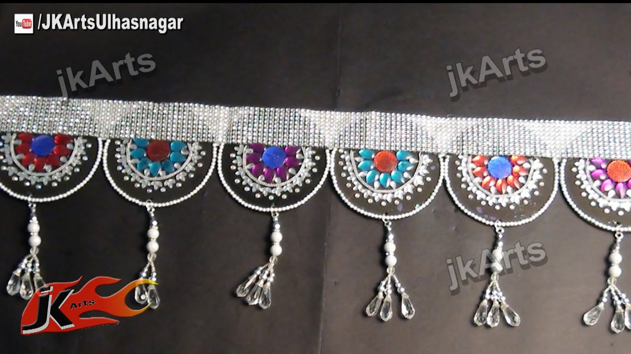 Diy toran bandhanwar from waste cd dvd how to make for Wall hanging out of waste material