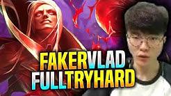 FAKER VLADIMIR FULL TRYHARD! - SKT T1 Faker Plays Vladimir vs Irelia Mid!   S9 KR SoloQ Patch 9.18
