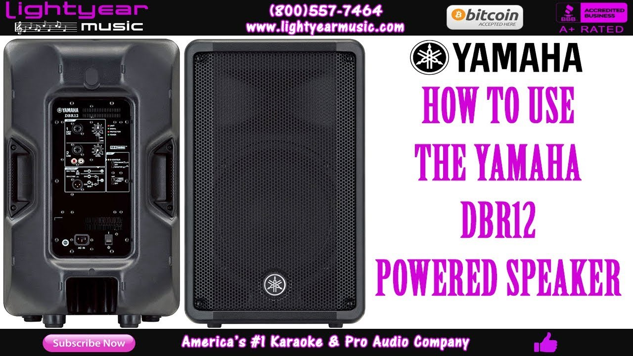 How To Use: Yamaha DBR12 Powered Speaker | Lightyearmusic How To Tutorial ✅