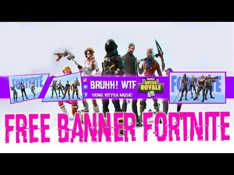 Fortnite Free Fortnite Youtube Banner Psd Data Font 2018 Simple