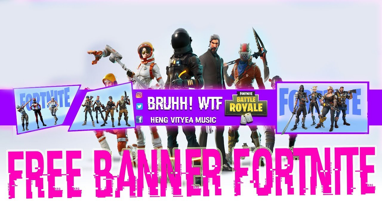 fortnite free fortnite youtube banner psd data font 2018 simple edition d - fortnite free d