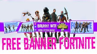 Fortnite Free Fortnite Youtube Banner PSD-Data-Font 2018 Simple Edition :D