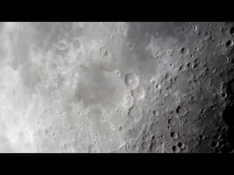 Flat Earth.Moon running through WATER