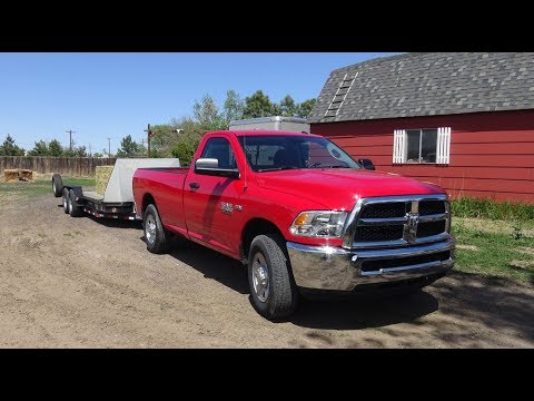 2017 Ram 2500 Tradesman review with trailer