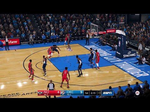 NBA LIVE 19 - New Orleans Pelicans vs Oklahoma City Thunder - PS4 PRO CPU SIM Full Game - HD