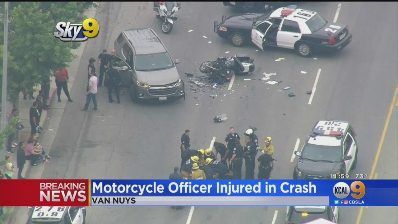 Los Angeles, CA: KKKop Injured In Motorcycle Crash