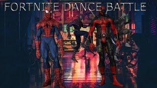 fortnite dance challenge spiderman vs deadpool breakdance