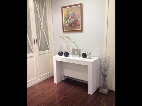 Table console extensible youtube - Table console extensible blanche ...