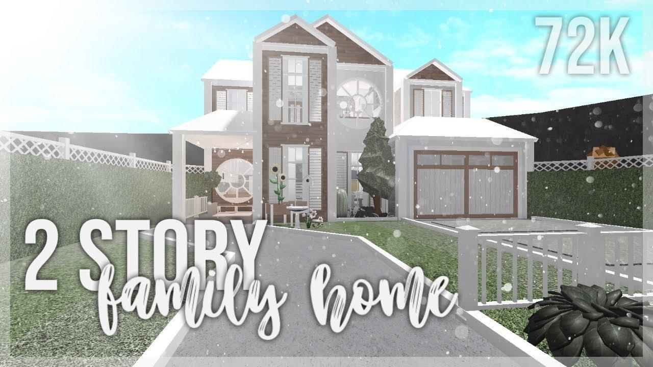 Bloxburg 2 Story Family Home Youtube