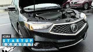 2018 ACURA TLX ASPEC STARTUP EXHAUST ENGINE REVS SOUND