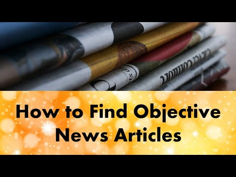How to find objective news articles on health topics