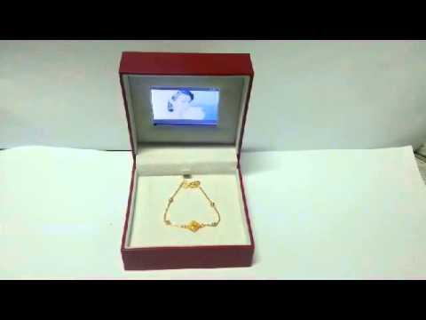HJ-DM100 Digital jewelry box, diamond engagement ring box, wedding jewelry box, jewelry box