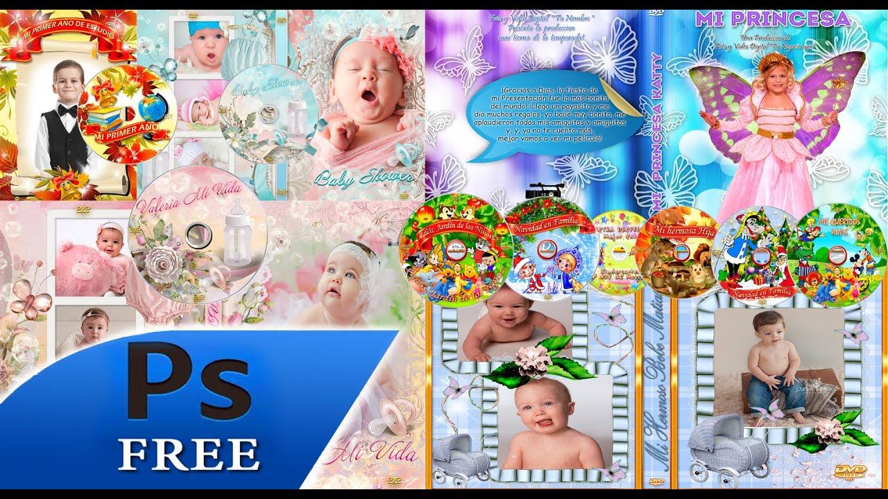 15 DVD para Bebes y Niños + CD plantillas para photoshop - YouTube