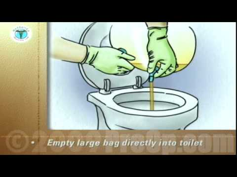 Postcare Patient Education Emptying A Urinary Drainage Bag