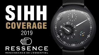 SIHH 2019: Ressence Type 2 E-Crown, Type 3 White, Type 1 Slim and More!