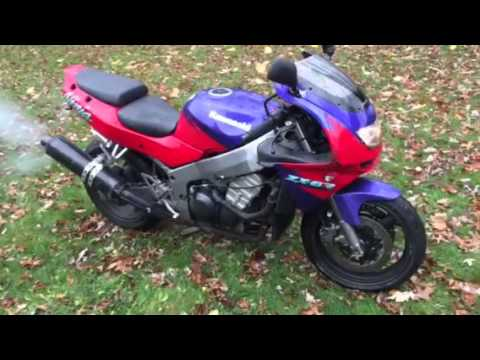 1995 kawasaki ninja zx6r running engine for sale youtube. Black Bedroom Furniture Sets. Home Design Ideas