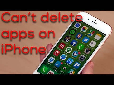Removing apps from iphone 6s plus