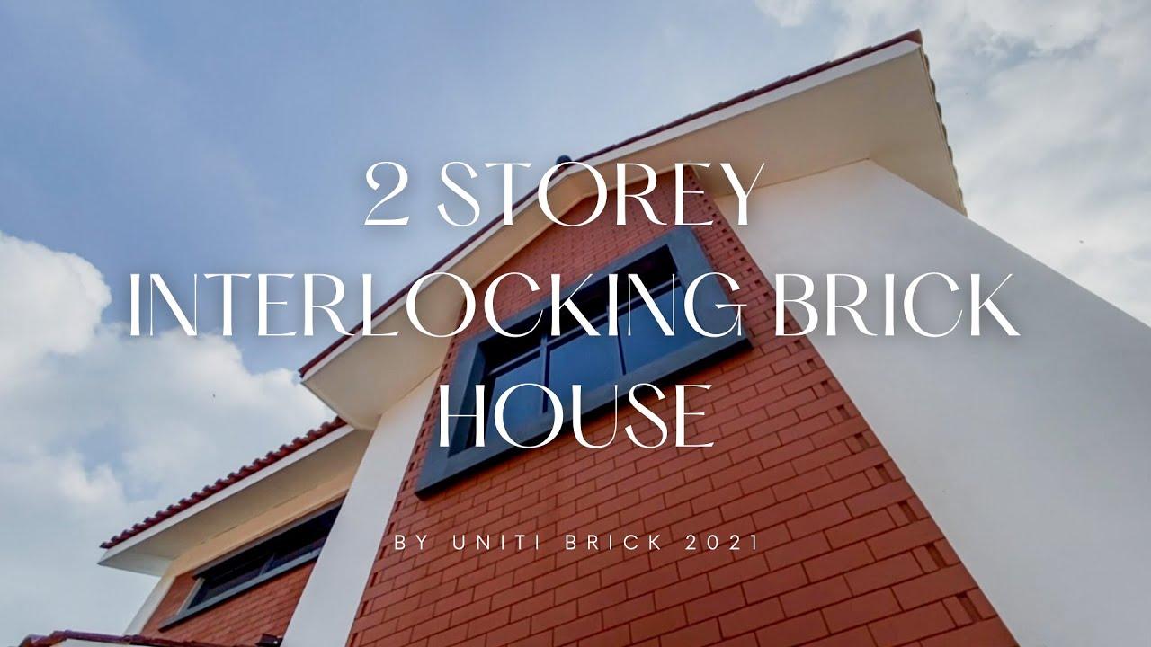 Eye Catching Beautiful and Affordable 2 Storey Interlocking Brick House by Uniti Brick
