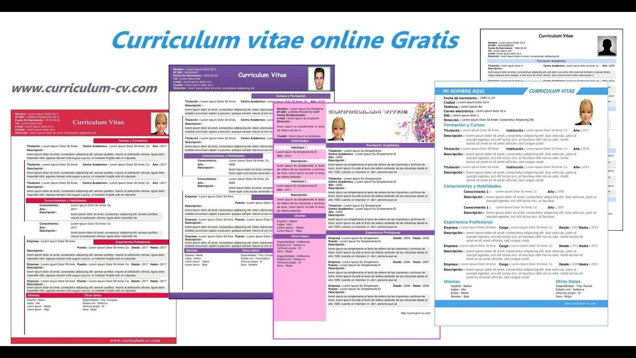 Como Hacer Curriculum Vitae Online En PDF Sin Programas