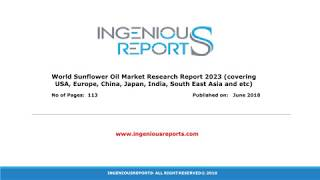 Sunflower Oil Market share by Regions in 2017, Through 2023 Reports Analysis