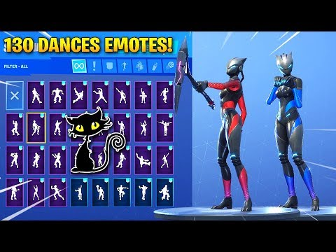 *NEW* FULL ARMOR LYNX (CAT) SKIN SHOWCASE WITH 130 FORTNITE DANCES & EMOTES!(Fortnite Season 7 Skin)