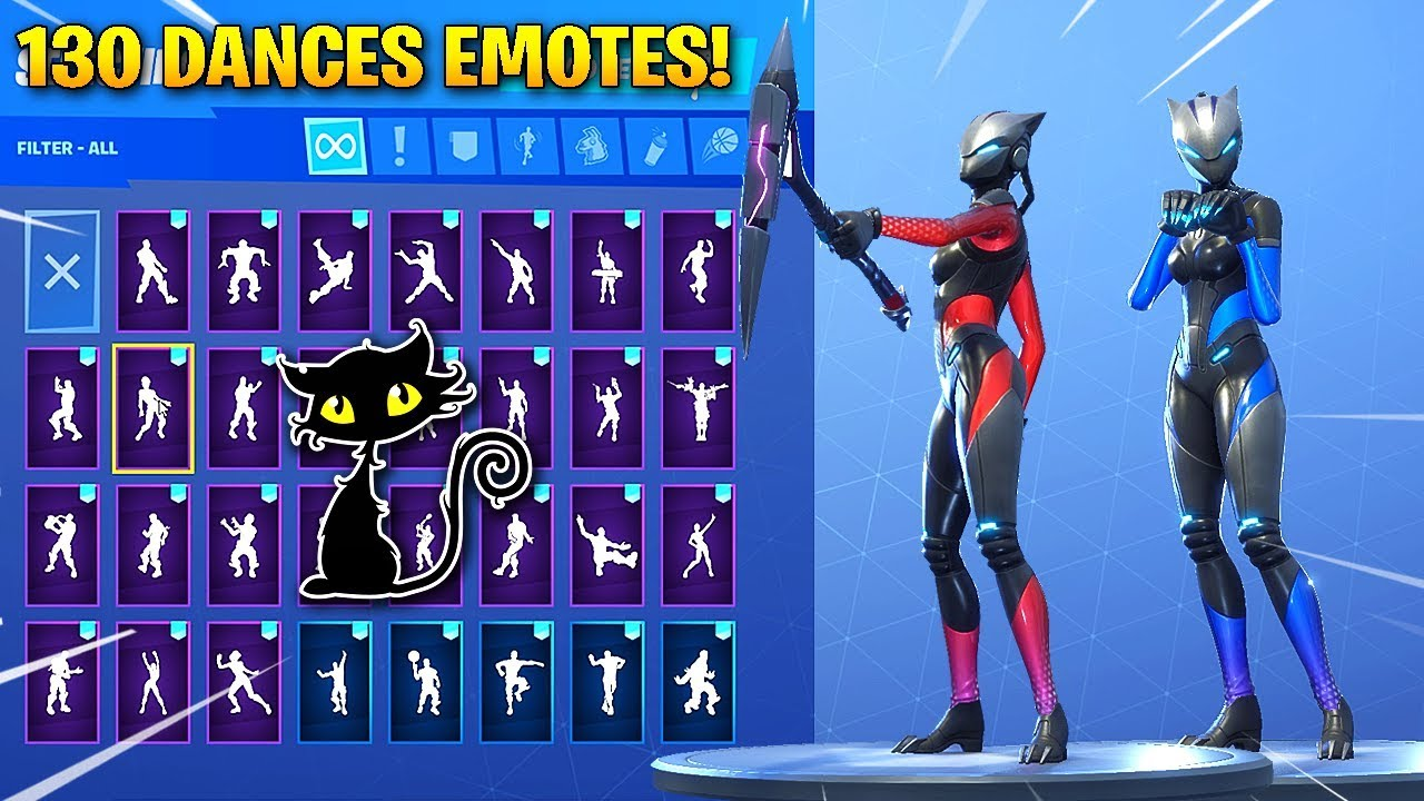 New Full Armor Lynx Cat Skin Showcase With 130 Fortnite Dances