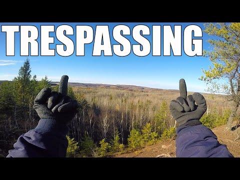 Trespassing onto an Active Mine