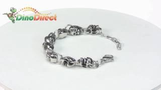 Men Titanium Steel Skull Bracelet  from Dinodirect.com