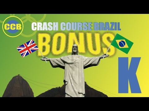 Portuguese for beginners; vocabulary : English words you can use in Brazil; letter K