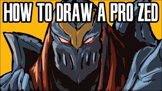 How to draw Professional League Champs Ep.1 Zed
