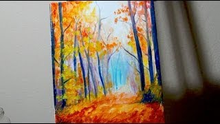 Speed Painting : Autumn Forest