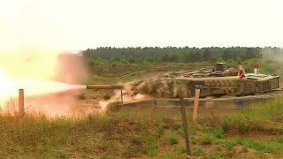 US & NATO Tanks War Game At Eastern Europe Frontline