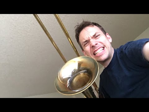 I'm live with a trombone
