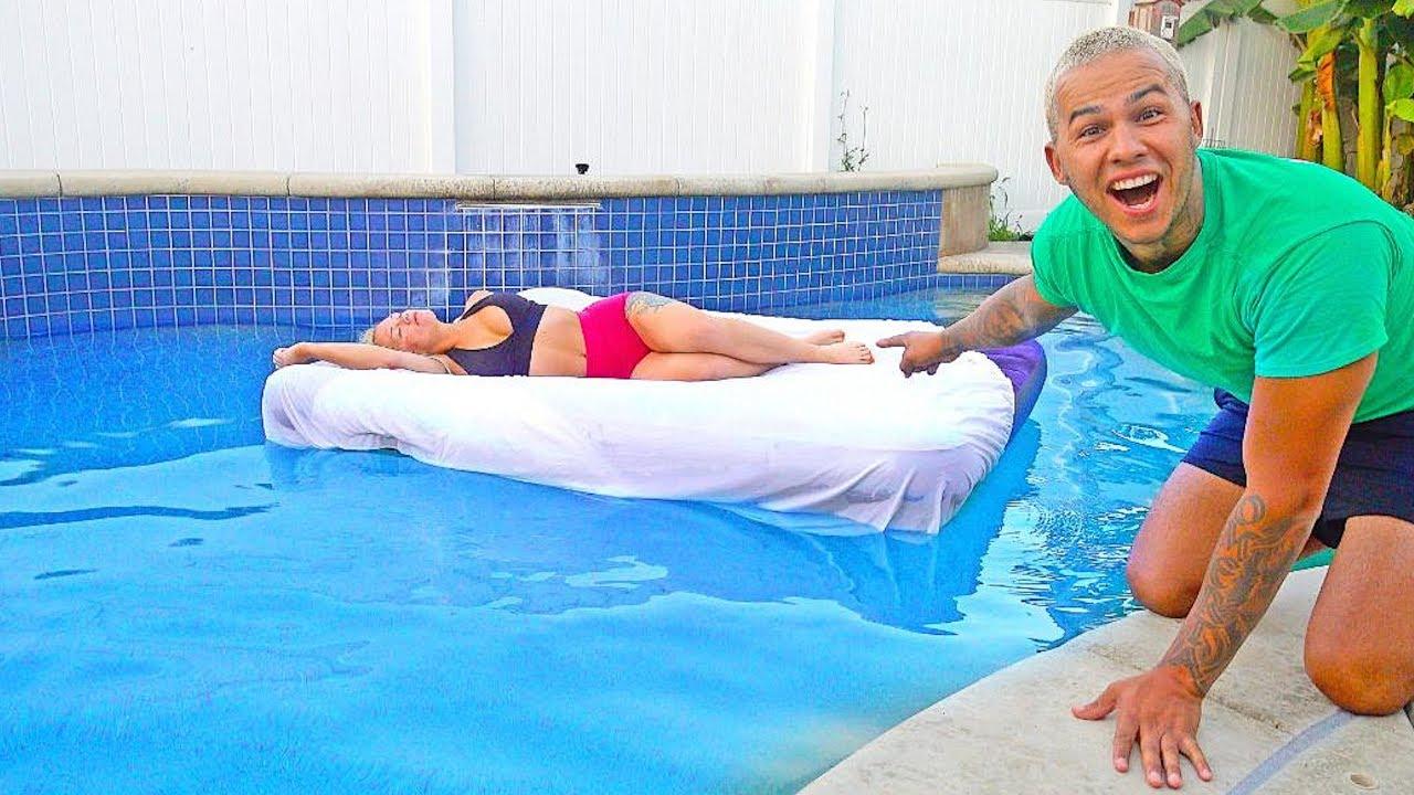 girlfriend-wakes-up-in-swimming-pool-prank