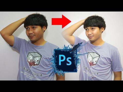 แต่งภาพคนอ้วนให้ดูผอม 1 Photoshop CC :【PANDA CAMERAMAN】
